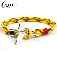 CUTEECO Rudder Cuff Braided Wrap Bracelet & Bangles Men Jewelry Pirate Genuine Leather Anchor Bracelets Vintage Mens