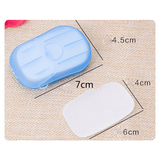 20/40/80PCS Disposable Soap Boxes Portable Travel Soap Paper Outdoor Washing Hand Bath Scented Slice Sheets Mini Soap 4