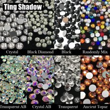 Mix color Transparent AB Crystal Black White Ancient Topaz Glue on Glitter flatback Glass Rhinestones