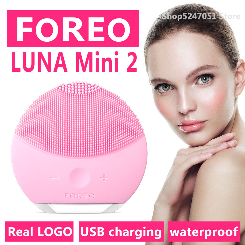 Foreo Luna Mini 2 Limpieza Face Cleansing Brush Foreo Luna Face Scrubber , Real FOREO LOGO,USB Charging,Waterproof,8 Level Mini2