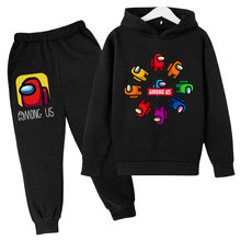 Spring and Autumn New Boy Clothing Sweatshirt Suit Among us Cartoon Character Hoodie + Sweatpants Casual Children's Clothing
