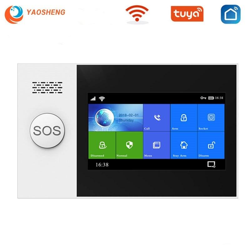 Система охранной сигнализации TUYA для дома, Беспроводная Gsm сигнализация с датчиком дыма для умного дома