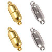 10 Uds. De cierres magnéticos de acero inoxidable, para fabricación de pulseras, convertidor de imán, accesorios de joyería DIY, Color dorado y plateado