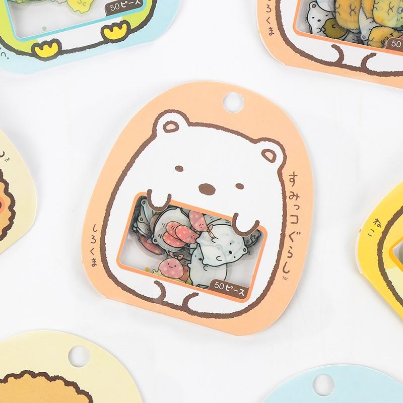 Cute Sumikko Stickers Gurashi Diary Label Pack Decorative Mobile Stickers Scrapbooking DIY Sticker Stationery Escolar Papelaria