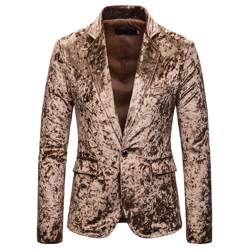 The New Man Fall 2020 Suede Suit Young Cultivate One's Morality Leisure Trend Velveteen Suit