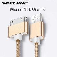 VOXLINK-Cable USB de 30 pines para iPhone 4s y 4, Cable cargador de Cable trenzado de nailon, 2A, carga rápida, sincronización de datos para iPad 2
