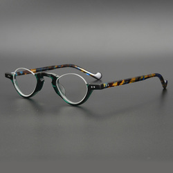 Acetat Transparente Gläser Rahmen Männer Frauen Halb Rand Kleine Brillen Optische Myopie Spektakel Rahmen Klare Linse Brillen Oculos