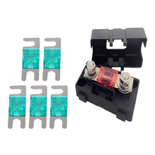 Automotive Car Mini ANS Fuse Holder Fusebox Block 30A+5 Pieces Mini ANL Fuse