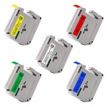 UniPlus 5PK MK231 M-K 231 Labeling Tape for Brother P-Touch Label Printer PT-80 Black on White Yellow MK531 731 631 Label Maker