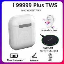 Original i99999 plus tws renomear bluetooth 5.0 super fones de ouvido sem fio pk i9000 pro i90000 max fones de ouvido da orelha telefones