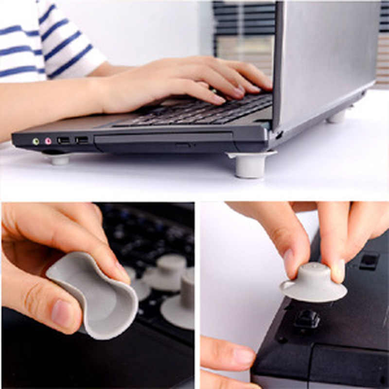 Hot Selling 4 Pcs Notebook Accessoire Laptop Heat Reduction Pad Cooling Voeten Standhouder