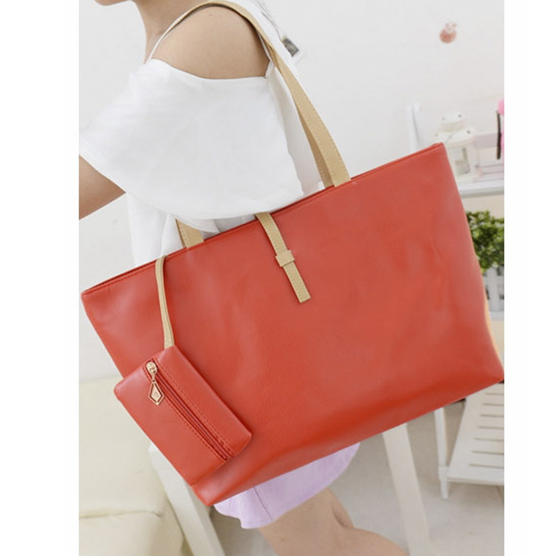 Newly 1 Pcs Women Lady Shoulder Bag PU Leather Large Capacity Fashion For Travel Money CLA88
