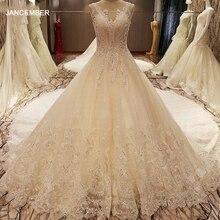 LS79210 casamentos sexy vestido 2018 ver calção de volta vestido de bola sem mangas casamento rendas vestidos de casamento árabe marfim fotos reais