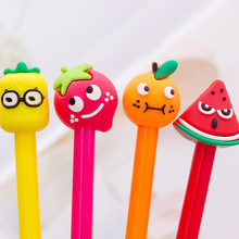 Stationery Creative Cartoon Fruit Neutral Pen Office Learning 0.5mm Black Signature Student