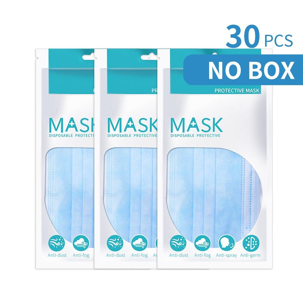 Одноразовые маски фильтр для лица Защитная маска для рта 3 слоя маска для лица защита от пыли защита от ушей Быстрая доставка