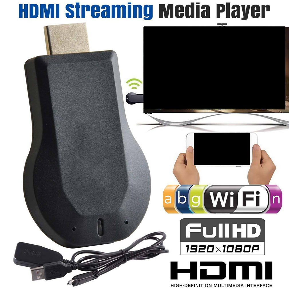 Wireless WIFI Display Dongle DLNA Airplay HDMI Cable For iOS Android to TV HDTV