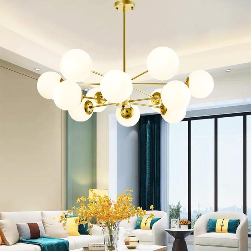 Nordic LED Chandelier Modern Minimalist Chandelier Celling Lamp Light for Bedroom Living Room Ceiling Suspendsion Chandelier