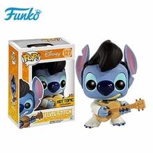 FUNKO POP Original Hot Topic ELVIS STITCH Vinyl Dolls Action & Figures Model Toys Collection Children Favor Birthday Gift