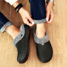 Quaoar 2021 Winter Warm Slippers Women amp Men Shoes Indoor Cotton Pantoffels Casual Clogs With Fur Easy On Off House Floor Slippers cheap CN(Origin) Low (1cm-3cm) Fits true to size take your normal size Basic Short Plush Narrow Band Solid