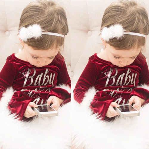 Emmababy 2019 nuevo Pelele de Navidad para niñas, mono de manga larga para bebés, Mono para recién nacido, Princesa, ropa de felpa, regalo de Navidad