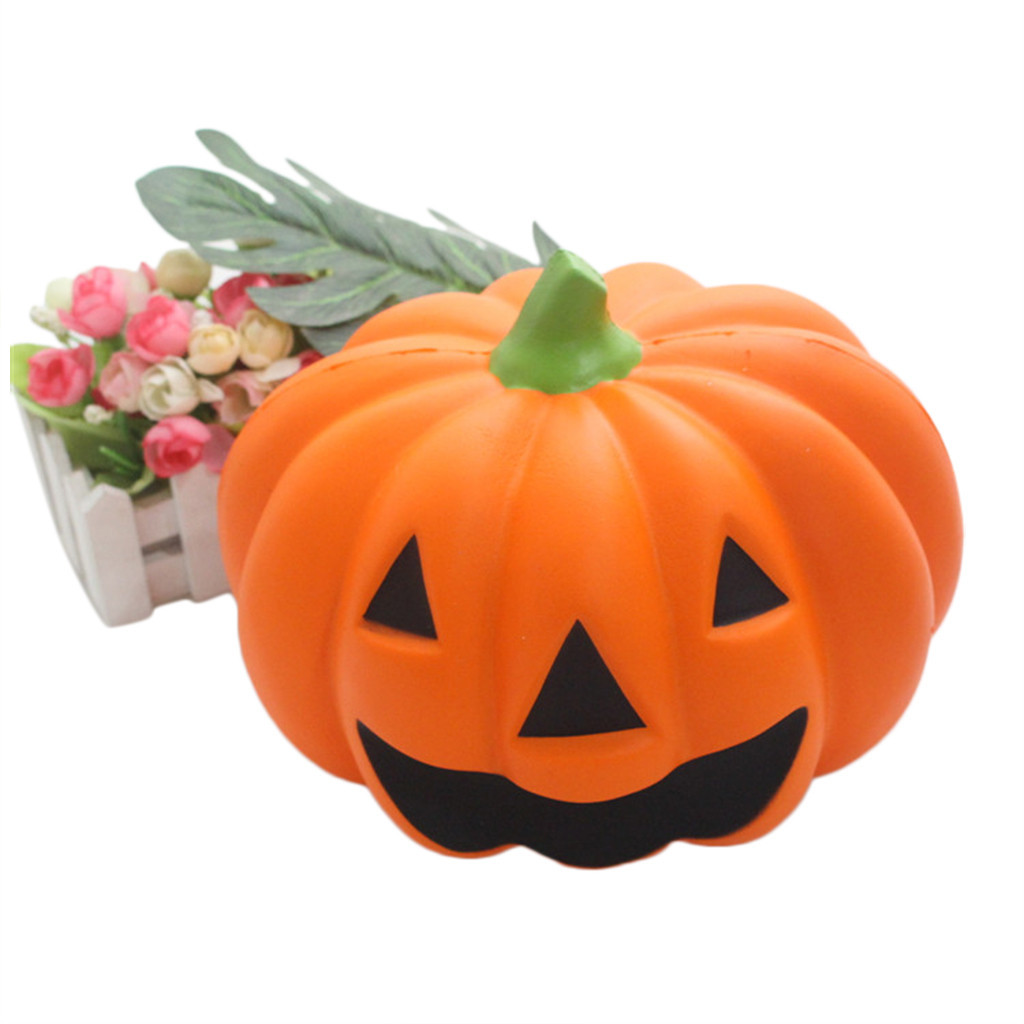 Huge Lovely Pumpkin Cream Scented Slow Rising Toys Decompression Orange Toys Sweet Smelling And Super Kawai As A Good Gift Z0802