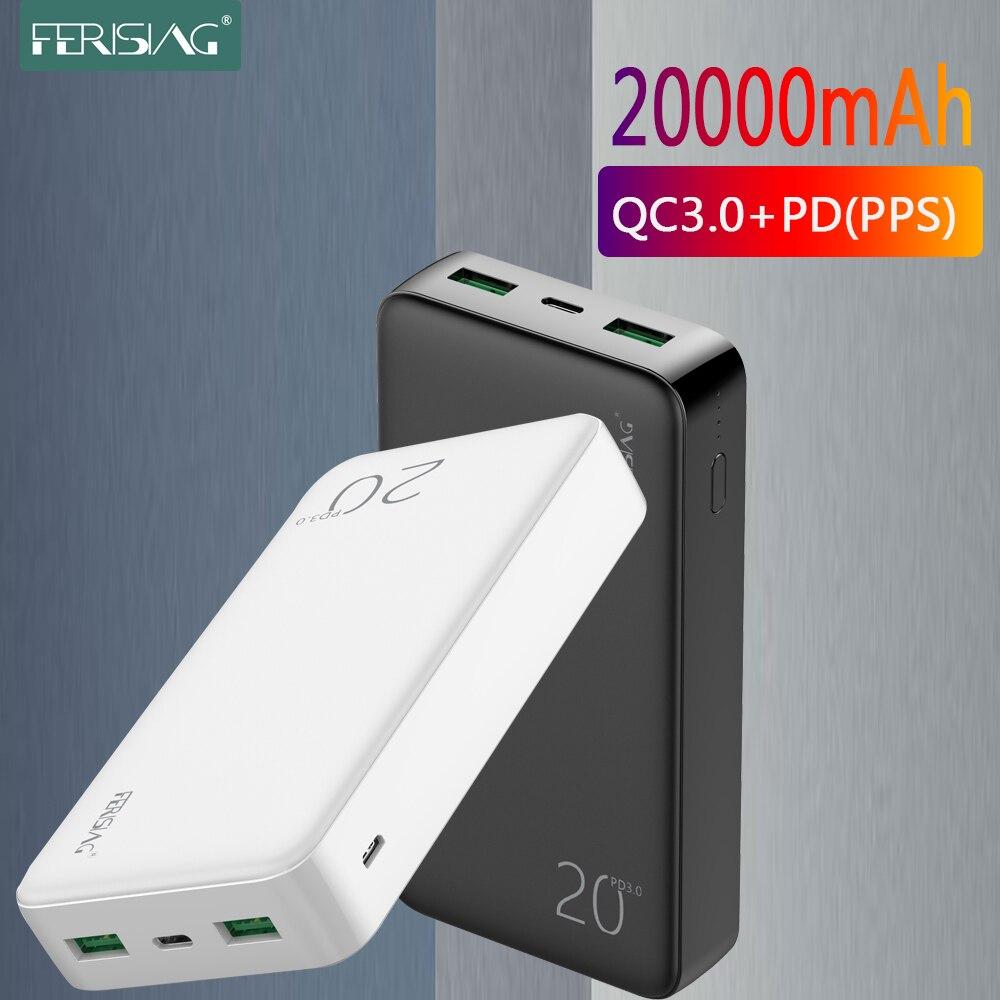 Cargador de batería externo portátil de 20000mAh, QC PD 3,0, Banco de energía para Xiaomi Mi10 20000, Banco de energía de carga rápida