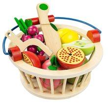 Детская деревянная netic резка фруктов и овощей детская укороченная