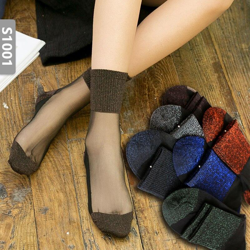 HYRAX Цветочные носки 5 пар случайных отправки сексуальные кружева летние женские черные телесные кружевные хлопковые чулки
