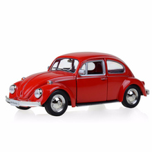 цена на Toy Kids Gift Diecast Model Car Red 1/32 Scale Beetle 1967 Classic Car Pull Back Toys Collection Hobbies Model