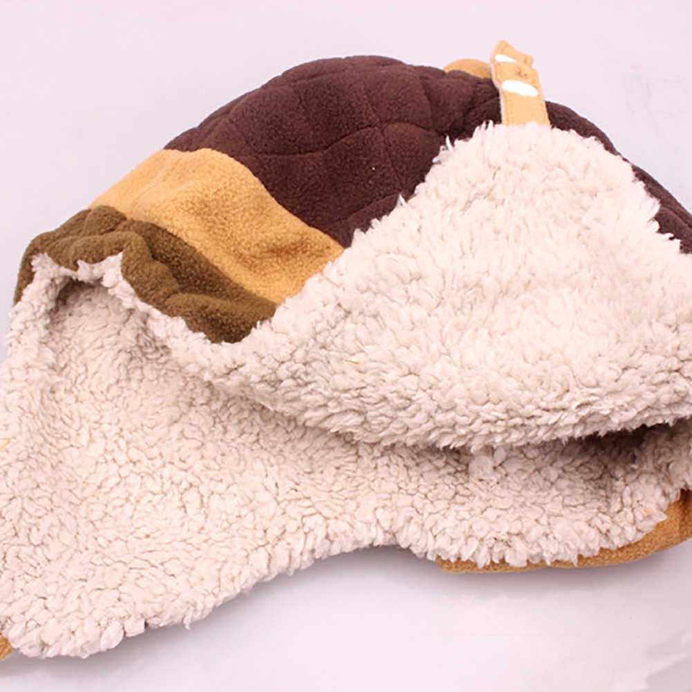 冬かわいい子供の少年少女のメガネデザイン耳介ビーニーキャップ帽子