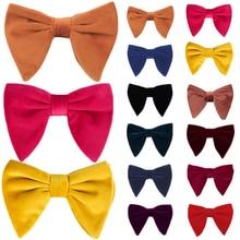 Мужские и женские модные бархатные галстуки с большим бантом Свадебный галстук вечерние деловые однотонный галстук-бабочка Gravatas Slim Masculina Cravats Neckwear