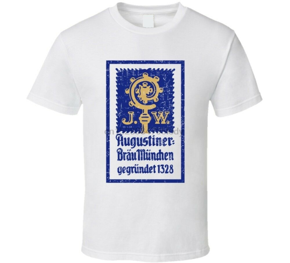 Augustiner Cool Popular Food Drink Restaurant Brand Logo Gift T Shirt