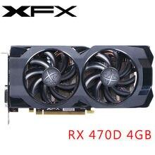 Xfx placa de vídeo rx 470 4 gb 256bit gddr5 placas gráficas para amd rx 400 séries placas vga rx470 displayport 570 580 480 hdmi usado