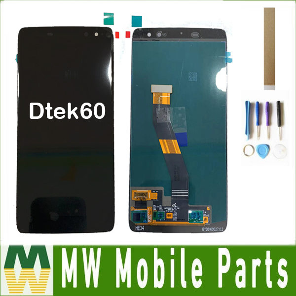 For Blackberry Dtek60 LCD Display Touch Screen Digitizer Black Color with tools&tape
