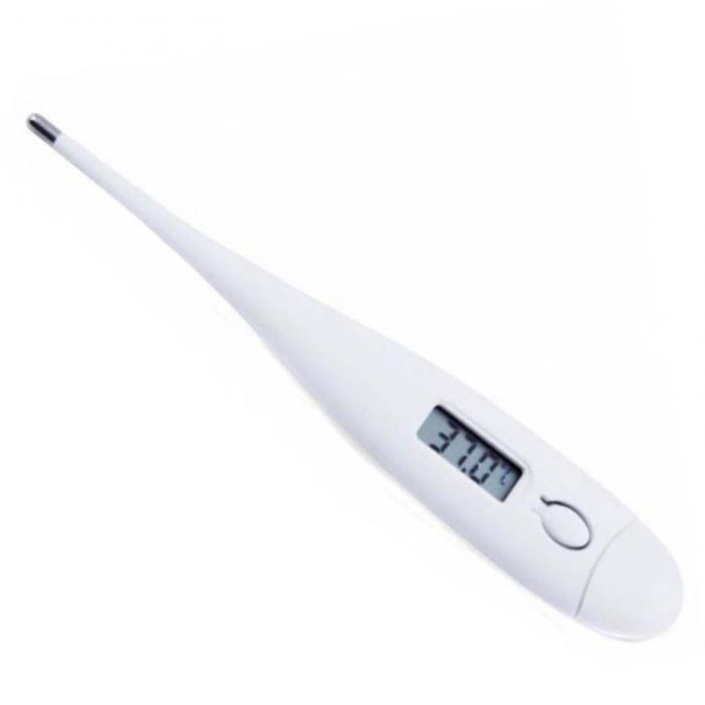 White Digital Electronic Thermometer LCD Home & Baby Body Temperature Child Adult Household Temperature Gauge