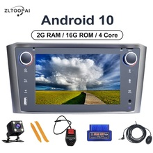 ZLTOOPAI אנדרואיד 10 אוטומטי רדיו מולטימדיה לרכב נגן עבור טויוטה Avensis T25 2002 2003 2004 2005 2008 GPS ניווט לרכב סטריאו