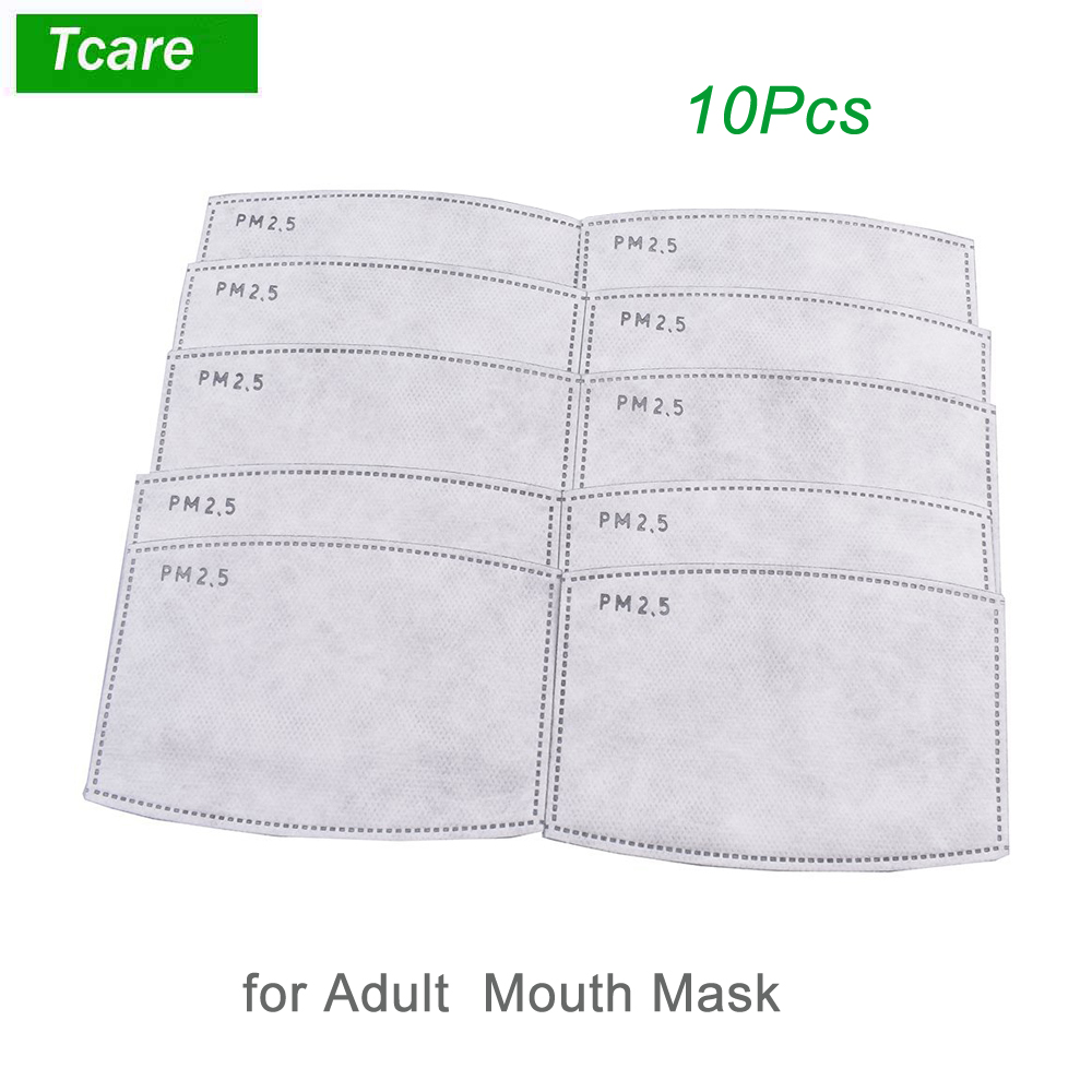 * Tcare 10pcs/Lot PM2.5 Filter paper Anti Haze mouth Mask anti dust mask Filter paper Health Care 8