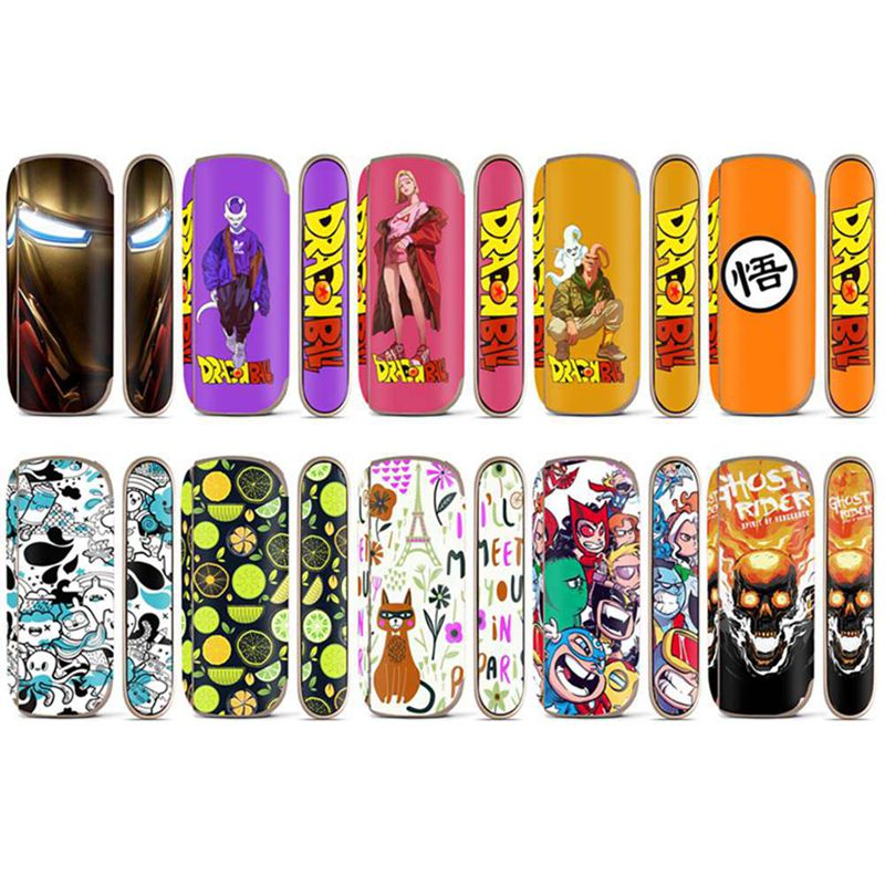Cartoon  Thin PVC Sticker Case Skin E Cigarette For IQOS 3 3.0