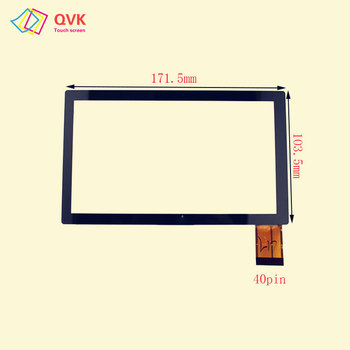 Black touch screen New For Wexler tab 7000/t7000/t7100 Capacitive touch screen panel repair replacement parts image