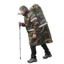 Unisex Raincoat Men Women Backpack Cover One-piece Raincoat Reflective strip Poncho Rain Cape Outdoor Hiking Trekking Rain Gear