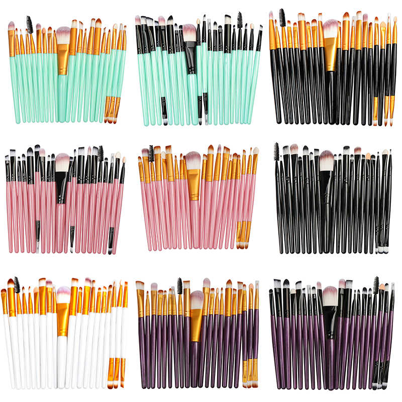 La Milee 20/5Pcs Makeup Brushes Set Eye Shadow Foundation Bubuk Eyeliner Bulu Mata Bibir Make Up Sikat Kosmetik alat Kecantikan Kit Panas