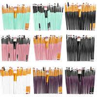 La Milee 20/5 Uds juego de brochas de maquillaje sombra de ojos maquillaje en polvo delineador de pestañas pincel de maquillaje de labios Kit de herramientas de belleza cosmética caliente