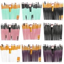 La Milee 20/5 штук кисти для макияжа Набор теней для век Пудра карандаш для глаз с ресницами, губами Make Up Косметическая кисть, Бьюти ящик для инструментов, лидер продаж