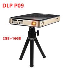 DLP P09 2020 nowy projektor full HD android 9 0 ddr4 2GB 16GB mini przenośny 4K projektor wifi bluetooth bateria wideo Beamer tanie tanio UNIC NONE CN (pochodzenie) Manual Correction Digital Projector EU Plug US Plug AU Plug UK Plug 16 10 50 ANSI Lumens 854x480dpi