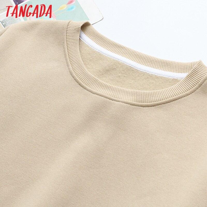 Hedf603dba7eb4a6d997893c04138c80dF Tangada 2020 Autumn Winter Women warm yellow fleece 100% cotton suit 2 pieces sets o neck hoodies sweatshirt pants suits 6L24