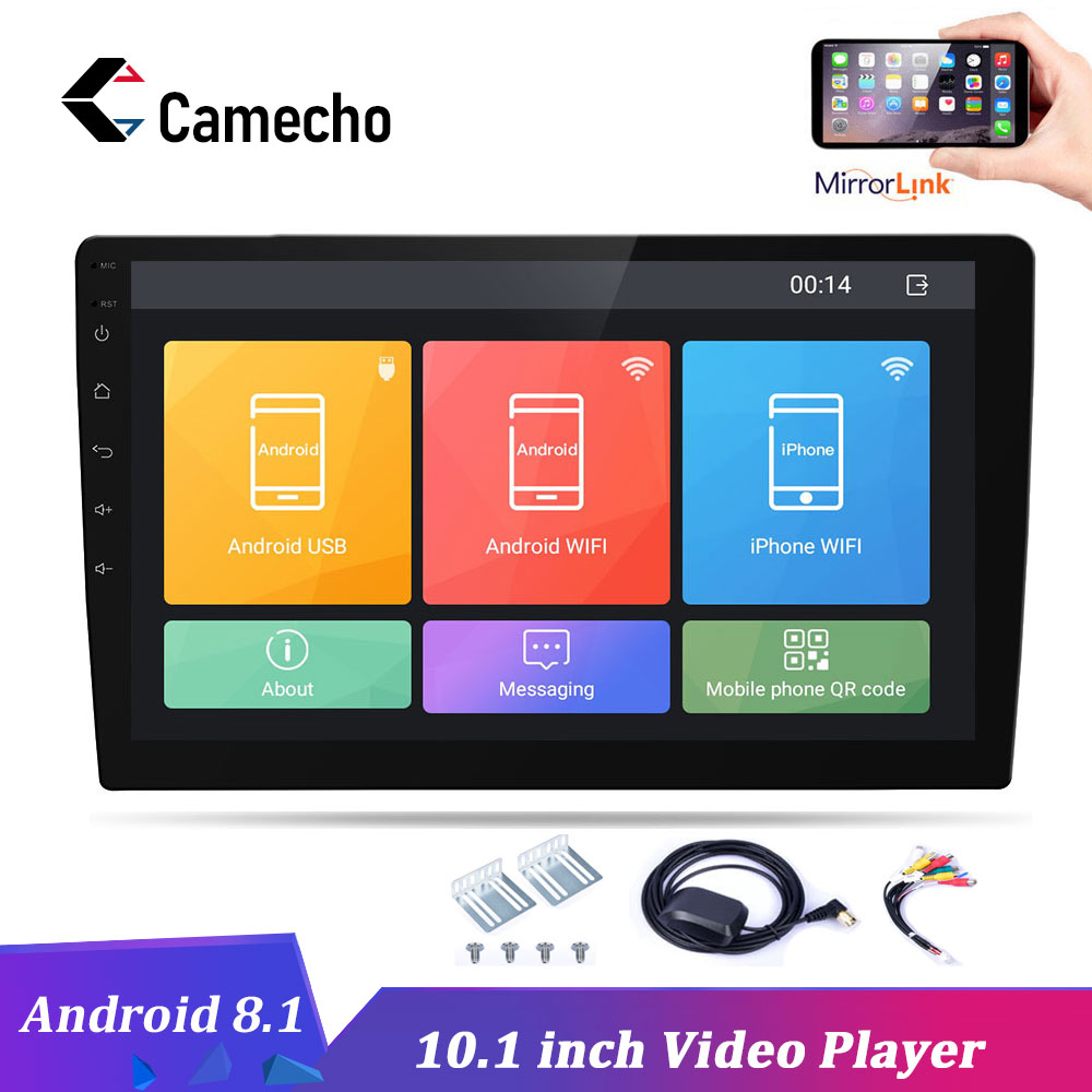 Podofo Autoradio Android 10.1 pouces HD 2 Din Autoradio GPS Navigation Wifi Bluetooth MP5 lecteur multimédia 2 DIN Audio stéréo