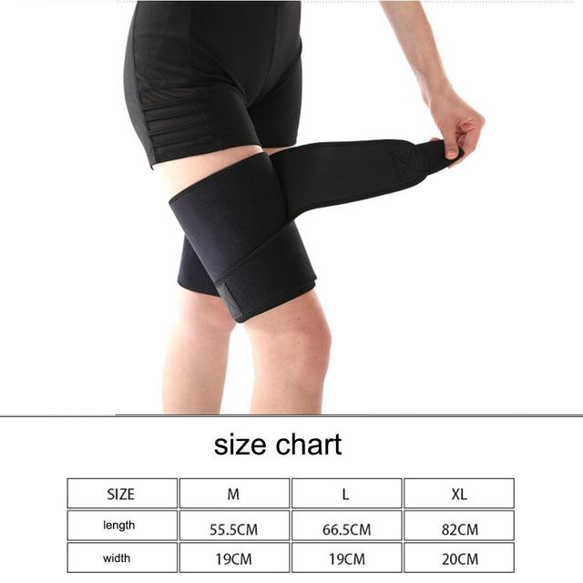 Thigh Sweat Wrap Slimming Sauna Belt Wraps Leg Arm Trimmers Thigh Calories off Shapewear Toned Muscles Band Weight Loss Belt 5
