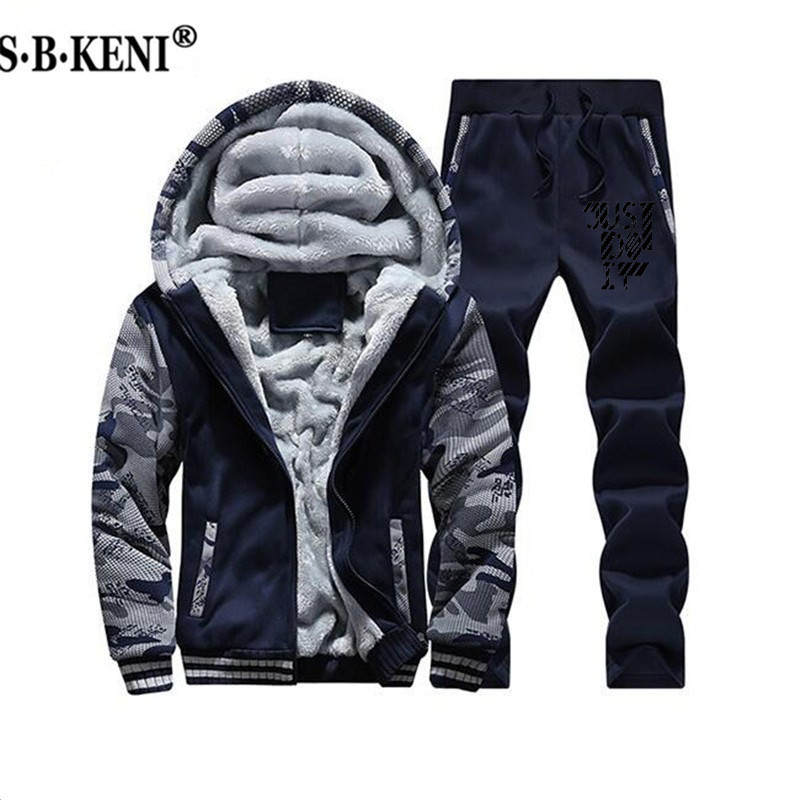 Brand Men And Women Thick Plus Velvet Warm Hoodie Hoodie Autumn And Winter Warm Printed Coat Hoodie Set