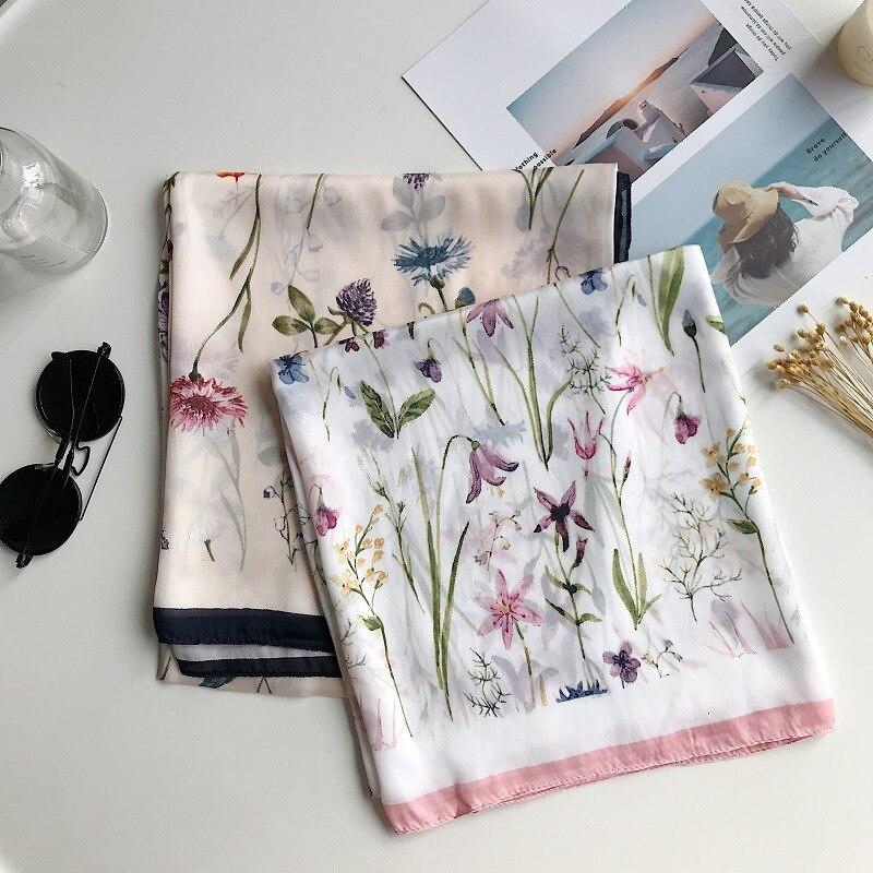 Spring New Fashion Versatile Scarf Shawl Dual Purpose Sunscreen Holiday Beach Silk  Large Scarf Designer Scarf Women Luxury 2020