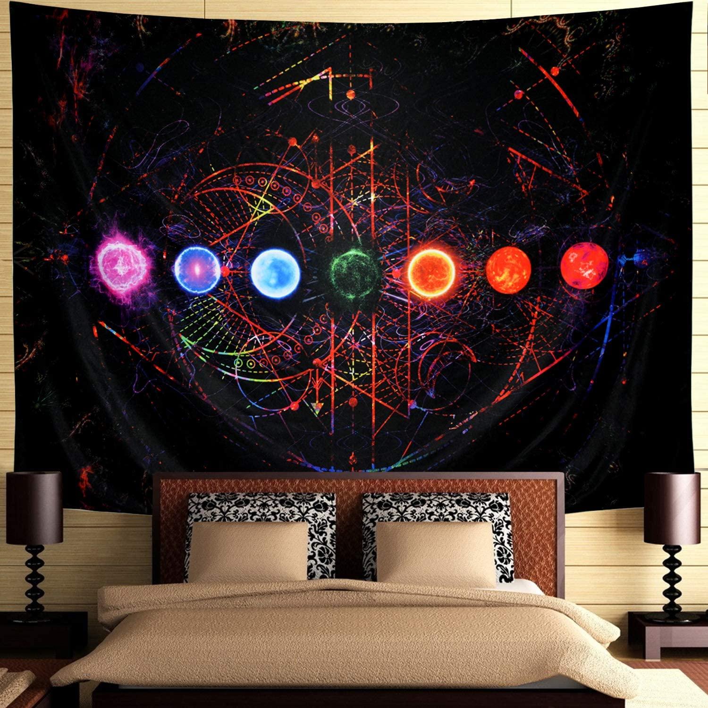 Art Bedroom Living Room Wall Decor Cloth Decoration Hanging Cloth 3 D Fingerprint Tapestries Polish Geometric Patterns Tapestry Aliexpress